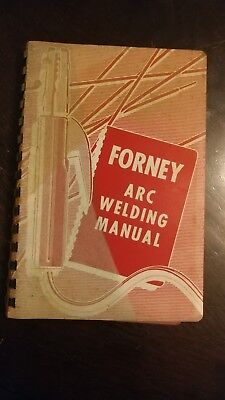 Vtg 1968 FORNEY ARC WELDING MANUAL  FORNEY INDUSTRIES INC FORT COLLINS COLORADO