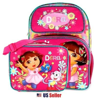 """Dora the Explorer 16"""" Large School Backpack and Lunch Bag : Sunflower"""