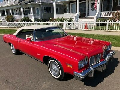 Eighty-Eight -- 1975 OLDS DELTA 88 CONVERTIBLE  RED  455CI  A/C  LOADED  BIG CAR!!!