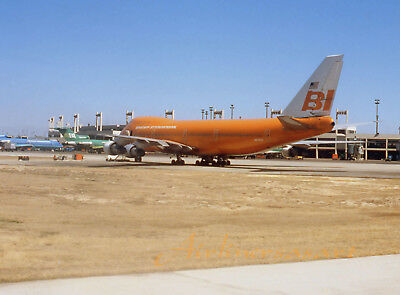 "Braniff International Boeing 747-127 N601BN at DFW Oct. 1978 8""x12"" Color Print"