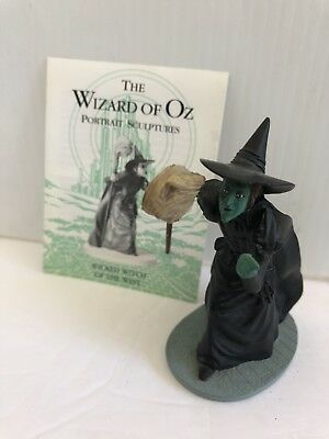 "Franklin Mint Wizard Of Oz Figure...."" Wicked Witch Of The West ""...with Card"