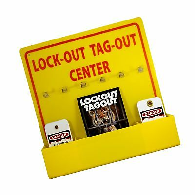 """NMC LOTO3 Lock-Out Tag-Out Center Kit with Handbook and 10 Lockout Tags, 16"""" ..."""