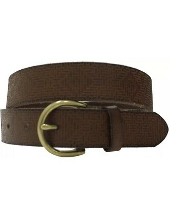 Mossimo Womens Solid Belt With Gold Buckle Brown Size S Genuine Leather