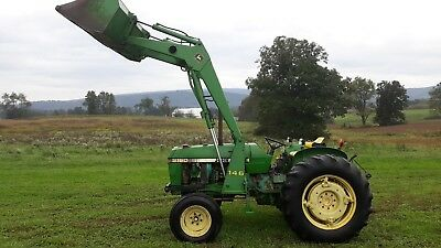 1984 John Deere 2150 tractor JD 146 loader gear 50 hp diesel used utility farm