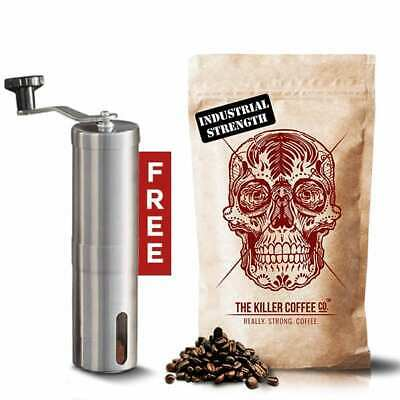 Killer Coffee + Free Hand Grinder - Really Strong Coffee Beans or Ground