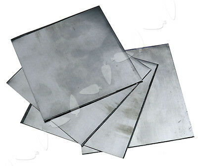 5 x Pure Zinc Zn Sheet Plate High Purity 99.99% For Science Lab 100x100x0.2mm