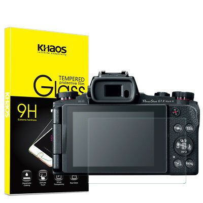 Khaos For Canon G1X  Tempered Glass Screen Protector