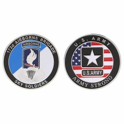New Commemorative Coin US Army Airborne Brigade Navy Soldier Collection Souvenir