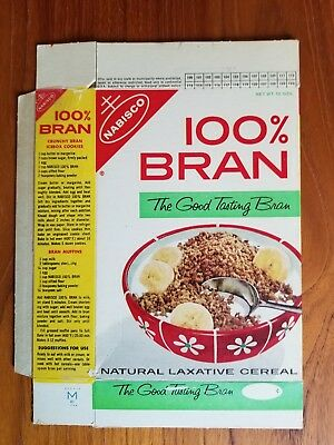 Flower Seed Offer 100% Bran Cereal Box 1970's Nabisco RARE