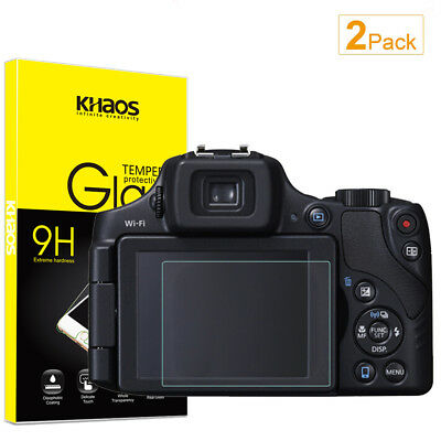 2-Pack Khaos For Canon SX60HS Tempered Glass Screen Protector