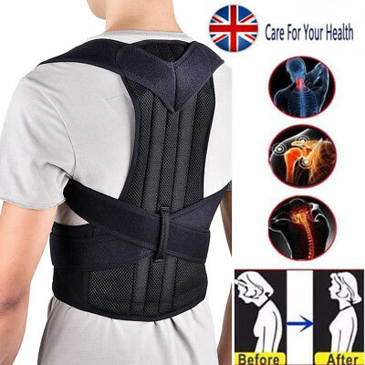 Adjustable Adult Kids Back Posture Correction Lumbar Shoulder Spine Support Belt
