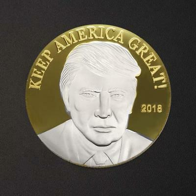 Trump KEEP America great! Collection commemorative coins colored metal crafts