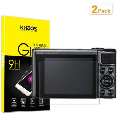 2-Pack Khaos For Canon SX730HS  Tempered Glass Screen Protector