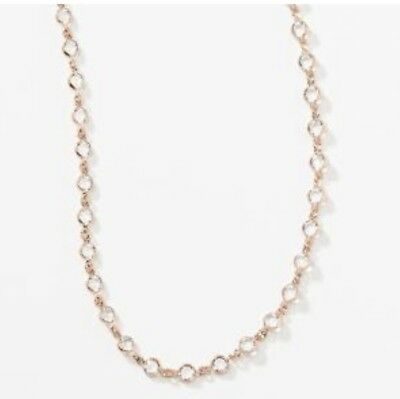 NEW Touchstone Crystal by Swarovski Mini Rose Gold Chanelle Necklace!!