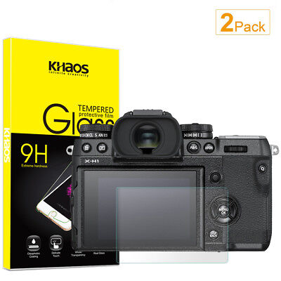 2-Pack Khaos For Fujifilm X-H1  Tempered Glass Screen Protector