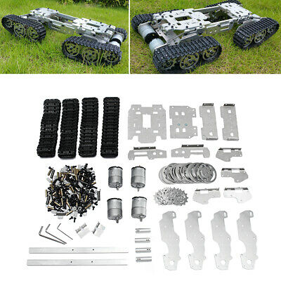 [NEW] 6-12V CNC Metal Robot RC Tank Tracked Chassis Suspension Obstacle Crossing