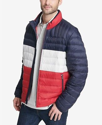 b71c7435b TOMMY HILFIGER MEN'S Packable Quilted Down Jacket, Green, S, New ...