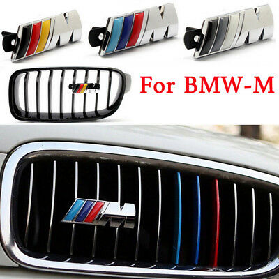 3D Metal Power Car Front Grille Chrome Badge  Fashion Emblem Chrome For BMW-M