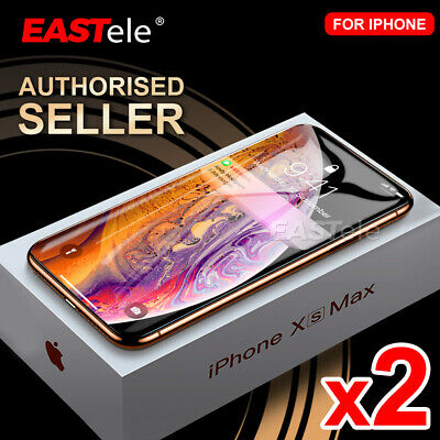 2x Apple iPhone XS Max XR X GENUINE EASTele Tempered Glass Screen Protector