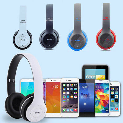 Wireless Headset Bluetooth Headphones Noise Cancelling Over Ear With Microphone