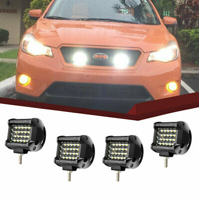 """BUMPER 4x 18W Led Work Lights Pods flood Offroad Lamp For ATV JEEP UTE Truck 4"""""""