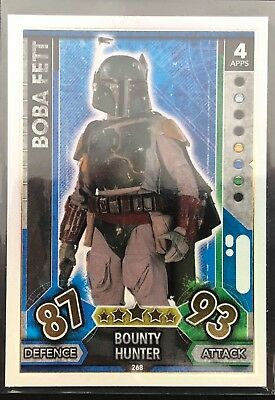 Star Wars Force Attax TCG Rainbow Foil - Boba Fett