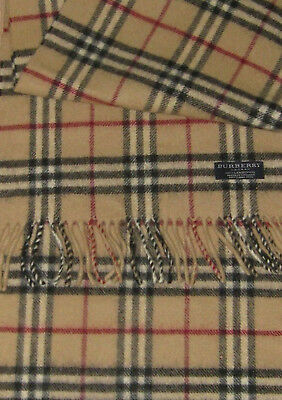 Burberry Large Lambswool Scarf, Iconic Camel Nova Check
