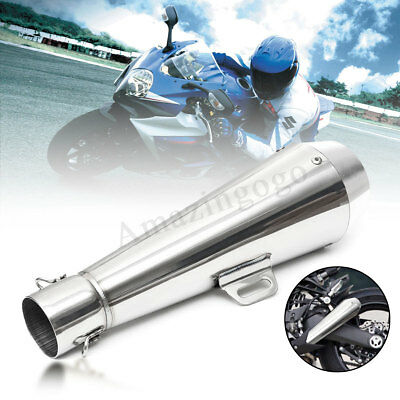38-51mm Stainless Steel Exhaust Muffler Pipe Silencer For Motorcycle Sreet Bike