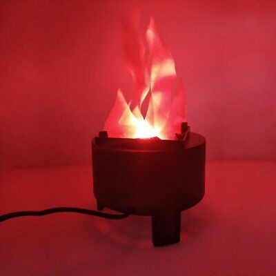 3W Lamp Electronic Brazier Lamp Red LED Light Decor Realistic Flame Fire Effect