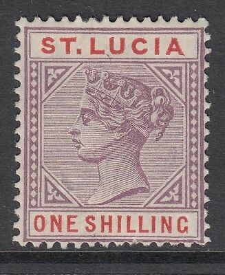 St.lucia Sg42 1887 1/- Dull Mauve & Red Mtd Mint