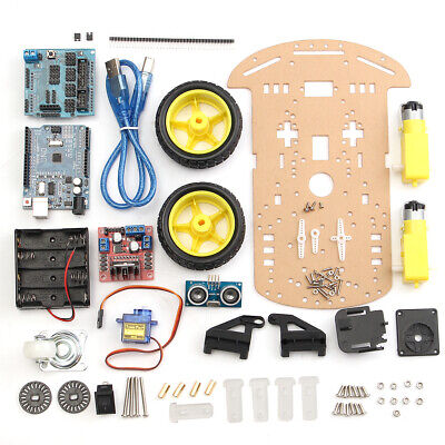 [NEW] 2 Wheels Ultrasonic Smart Robot Car Chassis Tracking Car Kit For Arduino