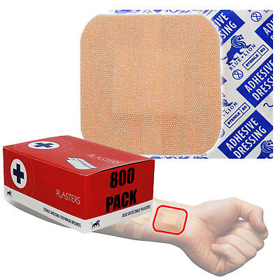 Bundle Buy Pack, 800x Blue Lion 3.8cm Wound Injury First Aid CE Medical Plasters
