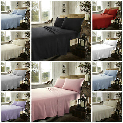 Premium Quality Thick Jersey 100%Cotton Fitted Sheet Single Double King S-King