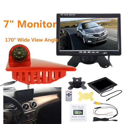 7'' Monitor + 170° Rear View Reverse Camera 3RD Brake Light For Renault Master