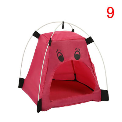Portable Pet Dog Cat Kennel House Cartoon Shape Oxford Cloth Folding Puppy Tent
