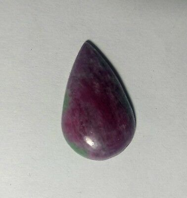 Ruby Zoisite Cabochon Pear Shape 26.50cts 28x17mm