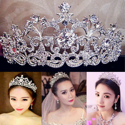 Wedding Bridal Crystal Rhinestone Hair Headband Crown Comb Tiara Prom Pagean USA
