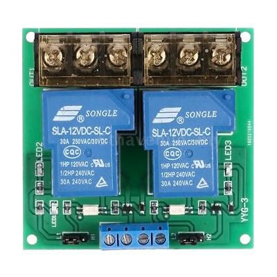 2 canaux Conseil Module DC 12V 30A Relais Optocoupler Isolation High / Low D3B6