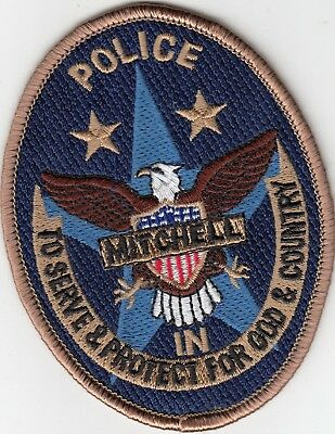Mitchell Indiana In Police Shoulder Patch