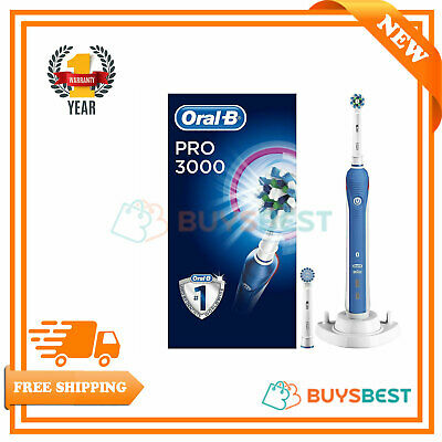 Oral-B Pro 3000 SensiClean 3D Action Electric Toothbrush Rechargeable PRO3000SEN