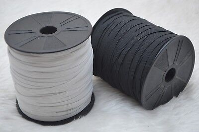 6mm Black And White Elastic 8 Cord Durable Sewing And Craft Stretch Flat Elastic