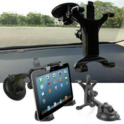 "360 Rotating Car Windshield Mount Holder Stander For iPad 7 -10.1""  Tablet Black"