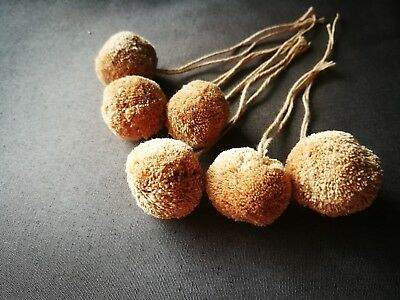 6 Pcs Natural Handmade Cotton Pom Pom Decoration Unique Handicraft Ethnic Style
