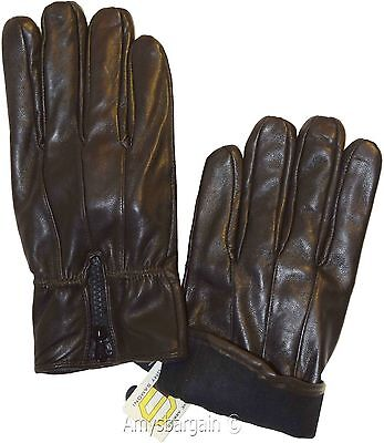 Winter gloves New Men/'s Leather Gloves * lined warm Black leather gloves BNWT