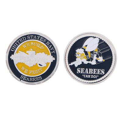 Army United States Navy Seabees Commemorative Coin Collection Arts Souvenir Gift