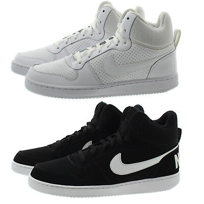 sale retailer 83cb6 2868a Nike 838938 Mens Court Borough High Top Basketball Athletic Shoes Sneakers