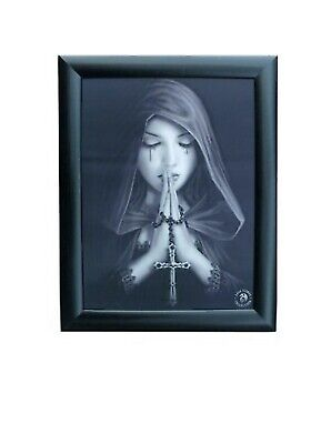 LENTICULAR Art ANNE STOKES Collection 3D FANTASY Wooden Framed Picture Cross New