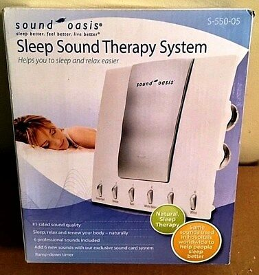 SOUND OASIS SLEEP SOUND THERAPY SYS w/6 NATURAL SOUNDS CARD TECH-S-550-05-NIB