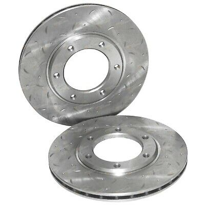2 Slotted Front Disc Brake Rotors for Patrol GQ MQ MK 160 Y60 1981-1996