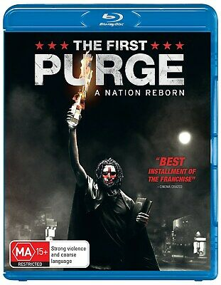 The First Purge with Digital Download Blu-ray Region B NEW